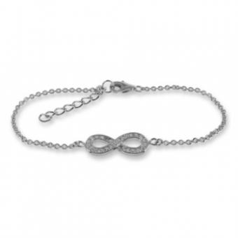Armband - Infinity met 27 Zirconia - Zilver 925 - AZ8259
