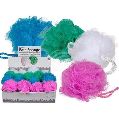 Nylon Bad Spons, Blauw, Groen, Wit en Roze (12cm) ( SET VAN 4 STUKS)