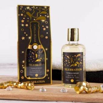 Bath & Shower Gel - CELEBRATION Vanilla Sugar - Champagnefles