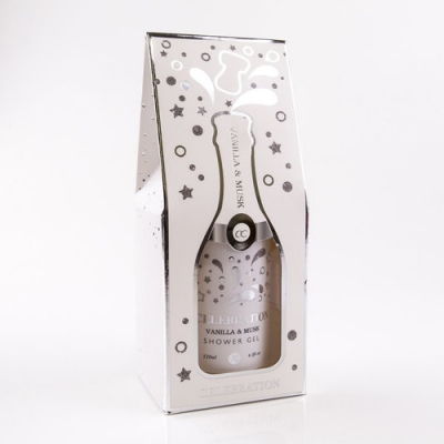 Bath & Shower Gel - CELEBRATION Vanilla & Musk - Champagnefles