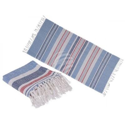 Hamamdoek: 80x170cm - Sauna - Strand Handdoek - Wit, Blauw, Rood