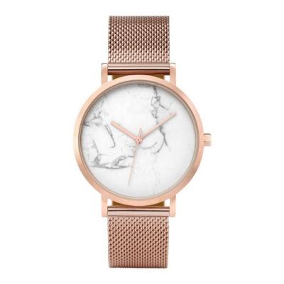 Horloge - Rosé, Rosekleurig - Stijlvol, Wit, Marmer - H674RZ