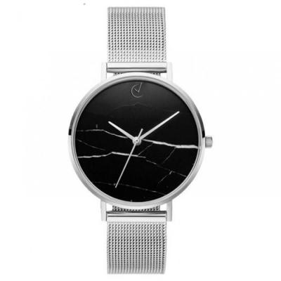 Horloge - Zilver, Zwart - Stijlvol, Marmer - H675S