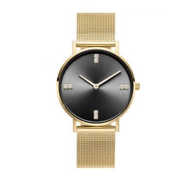 Horloge - Goudkleurig, Zwart - Kristallen - H680Z