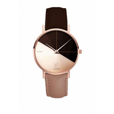 Horloge - Rose Goud - H690 - Rose Bruin