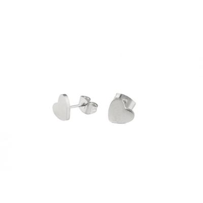 Oorbellen - Chirurgisch Staal - Zilverkleurig - OL-KST619-2 - Hartje