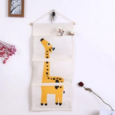 Hangende Organizer - B30 x H66 cm - Giraffe - Dier