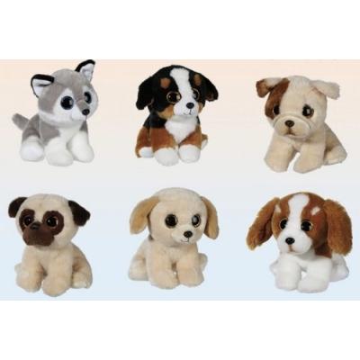 Pluche - Dieren Honden - Grote Ogen - 15x15x15 cm - PK6982