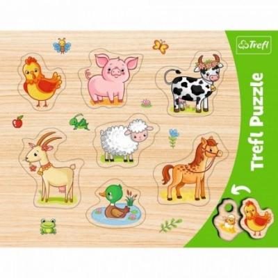 Puzzels - Vorm puzzel - Thema: Boerderij Dieren - Leeftijd: 3 jaar