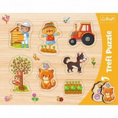 Puzzels - Vorm puzzel - Thema: Country - Boerderij - Leeftijd: 3 jaar