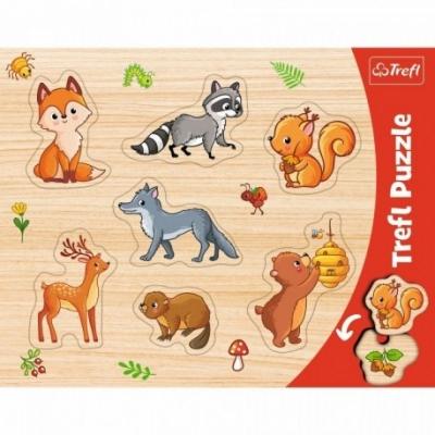 Puzzels - Vorm puzzel - Thema: Dieren - Bos - Leeftijd: 3 jaar