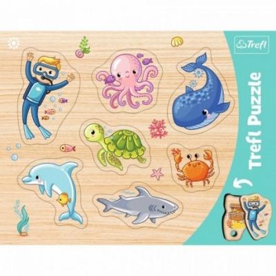 Puzzels - Vorm puzzel - Thema: Onderwater Wereld - Leeftijd: 3 jaar