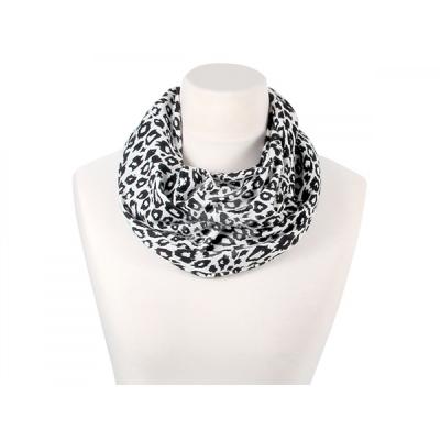 Zwart Wit - Leopard - Sjaal 'Loop' met dieren print - SCH-566d
