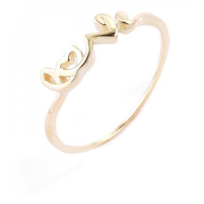"""Ringen: Ring """"van de Liefde"""" - 925 zilver, goud"""