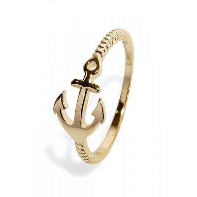 """Ringen: Ring """"Anker"""" - 925 zilver, goud - RZ3051"""