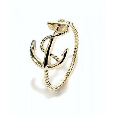 """Ringen: Ring """"Anker"""" - 925 zilver, goud - RZ3057"""