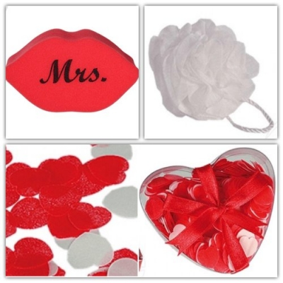 Badset - Bad Confetti - Bad Spons Wit - Mrs. Spons - Set