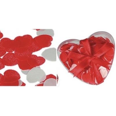 Bad Confetti - Rood - Hart - Hartjes - in een doosje