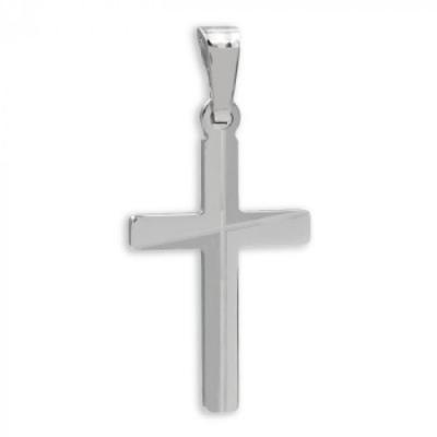 Hanger: Kruis, Mat - Zilver - Zilver 925