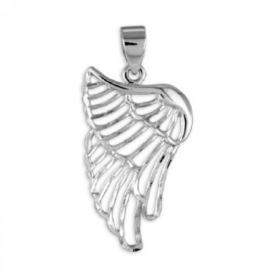 Hanger: Vleugels - Rhodium Plated - Zilver 925
