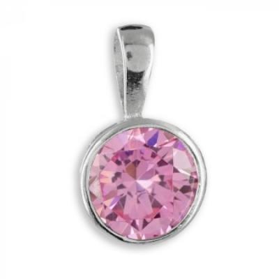 Hanger - Zirconia Licht Roze - Zilver 925 - ZH6178