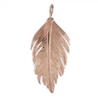 Hanger: Veer - Rose Goud Verguld  - Zilver 925