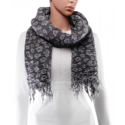 Sjaal - 180x65 cm - Grijs - Winter, Polyester