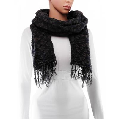 Sjaal - 180x65 cm - Donkerblauw - Winter, Polyester