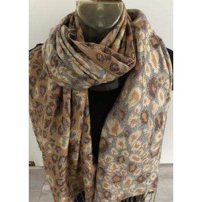 Sjaal - 190x70 cm - Bruin - Viscose