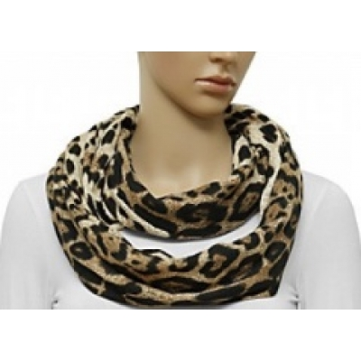 Sjaal 'Loop' met dieren print - Bruin, Zwart, Beige