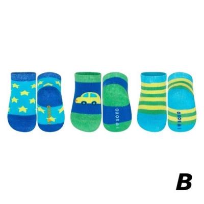 Babysokjes Blauw/Groen, Set van 3 stuks - Soxo BS19014B - 7442141057087
