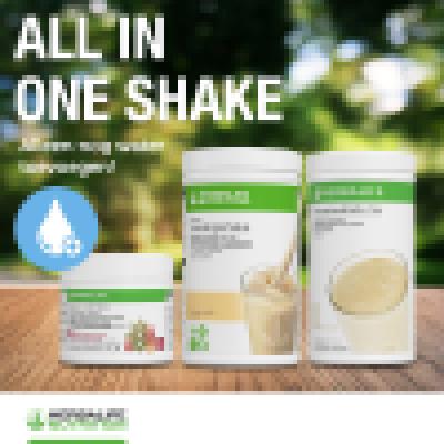 All-in-1-Shake ( F1 romige vanille, Proteïnedrank mix, Multivezel drank ) (840Z)