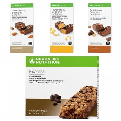 Proefpakket: Maaltijd repen & Proteïne repen (tussendoortjes) (totaal 5 stuks)