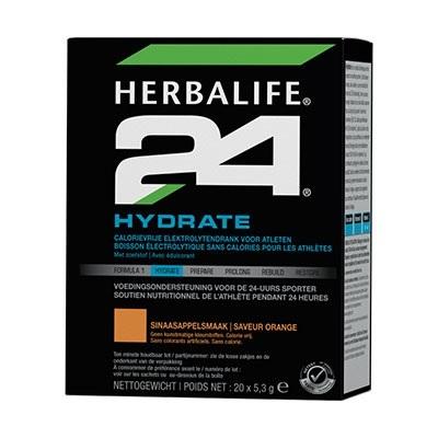 H24 Hydrate - Sinaasappelsmaak - 20 zakjes van 5.3 gram