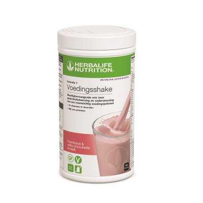 Vrij Van Shake Framboos & Witte Chocolade (4469) 550 gram - Voedingsshake