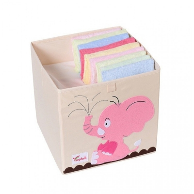 Container - Was- Speelgoed mand (33x33x33cm) - Olifant (D84)