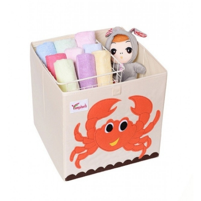 Container - Was- Speelgoed mand (33x33x33cm) - Krab (D83)