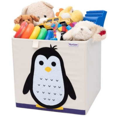 Container - Was- Speelgoed mand (33x33x33cm) - Pinguïn