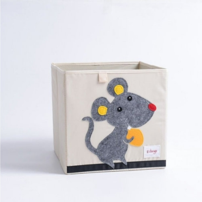 Container - Was- Speelgoed mand (33x33x33cm) - Muis
