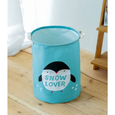 Container - Tas - Wasmand - Speelgoed mand - Pinguïn (Z30)