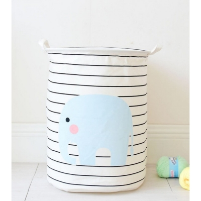 Container (35x45) - Tas - Wasmand - Olifant - Streep - Speelgoed mand (D91)