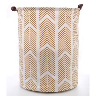 Container - Tas - Wasmand - Speelgoed mand - Wit, Okergeel, Beige (Z3)