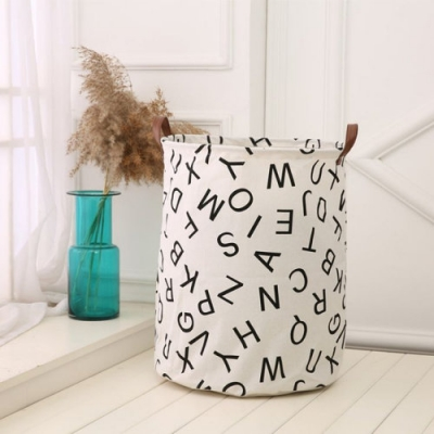 Container - Tas - Wasmand - Speelgoed mand - Letters (Z6)